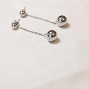 Jewelry - Fine Silver- Mini Ball Drop Earrings